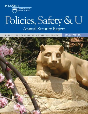 2012 Annual Security Report (pdf) - University Police - Penn State ...