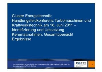 HFK-TuK-Dokumentation - Cluster Energietechnik