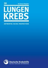"""Blauer Ratgeber """"Lungenkrebs"""" - Deutsche Krebshilfe eV"""