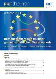 Heft 1 01/2011 Besteuerungsregeln im ... - PKF