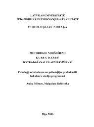 latvijas universitāte pedagoģijas un psiholoģijas fakultāte ...