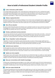 How to build a Professional Student LinkedIn Profile - QUT Careers ...