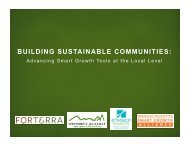 BUILDING SUSTAINABLE COMMUNITIES: - Smart Growth America