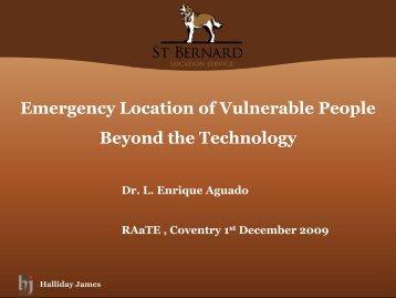 Emergency Location of Vulnerable People - the RAatE website