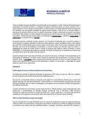 Segurança Alimentar, Síntese de legislação - DRAP Centro