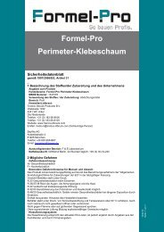 Formel-Pro Perimeter-Klebeschaum