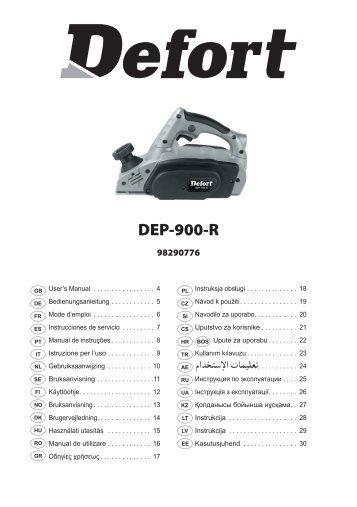 Manual DEP-900-R (W3-716-RCT-1).indd - Defort