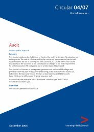 Audit code of practice - lsc.gov.uk - Learning and Skills Council