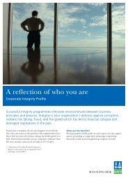 flyer corporate integrity.qxd:vp flyer A4 - DNV Business Assurance