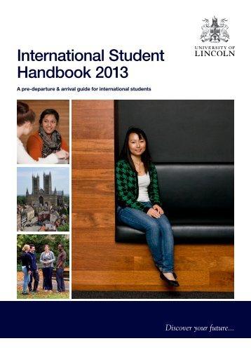 University of Lincoln International Handbook 2013 (PDF)