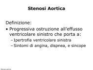 Stenosi Aortica Definizione: • Progressiva ... - Cuorediverona.it