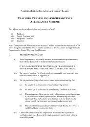 teachers travelling and subsistence allowances scheme - Belfast ...