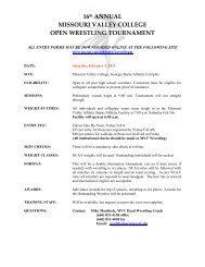 Missouri Valley College Open Wrestling Tournament