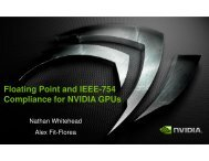 Floating Point and IEEE-754 Compliance for NVIDIA GPUs