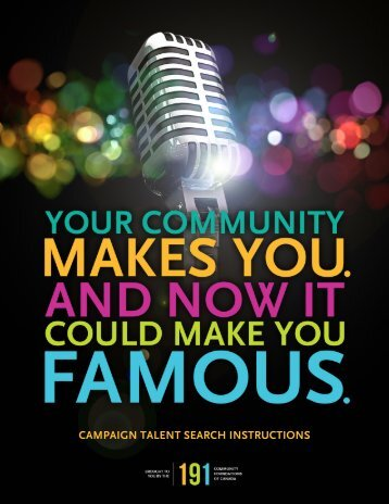 campaign talent search instructions - Brant Community Foundation