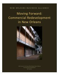 Moving Forward: Commercial Redevelopment in New Orleans