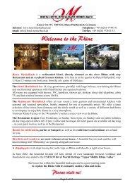 Willkommen am Rhein - Rhein-Hotel Restaurant Merkelbach