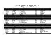 Liste des gagnants - jeu concours VLVE n°33 Tirage au ... - Vosges