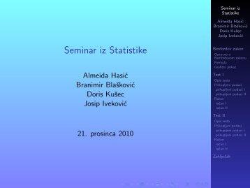 Seminar iz Statistike