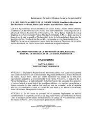 Reglamento Interno de la Secretaría de ... - de Transparencia