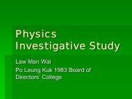 Physics Investigative Study