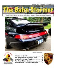 July 2009 Bahn Stormer - Rally Sport Region - Porsche Club of ...