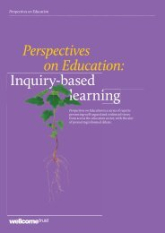 Perspectives on Education: Inquiry-based learning - Wellcome Trust