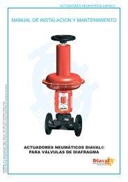 Actuadores neumáticos para válvulas de diafragma - COMEVAL