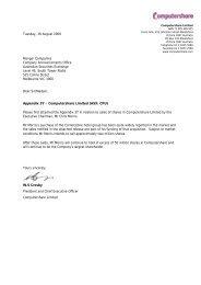 Change of Director`s Interest Notice -Chris Morris - Computershare