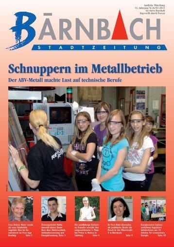 Schnuppern im Metallbetrieb - Bärnbach
