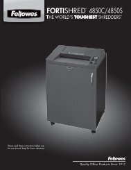 Fellowes 4850C Manual