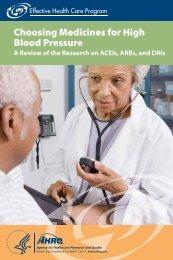 Choosing Medicines for High Blood Pressure - AHRQ Effective ...