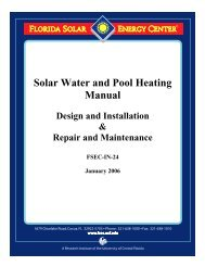 Solar Water and Pool Heating Manual - nabcep
