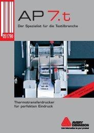 Der Spezialist für die Textilbranche Thermotransferdrucker für ...