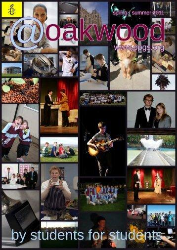oakwood Summer 2011 - Oakwood Park Grammar School