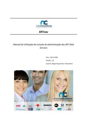 Manual de Utilização da consola de administração dos XRT Web ...
