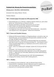 2. Mai 2013 - Der PromovierendenRat