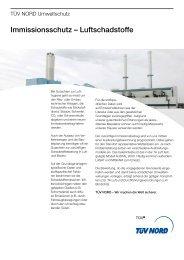 Immissionsschutz – Luftschadstoffe - TÜV Nord