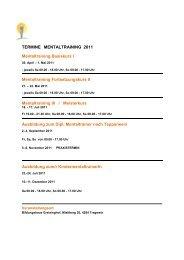 DIPL. MENTALTRAINER/IN nach Tepperwein