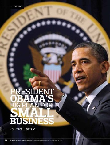 'President Obama's Big Plan for Small Business ... - Black Enterprise