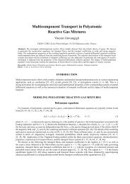 Multicomponent Transport in Polyatomic Reactive Gas Mixtures