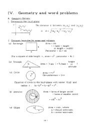 IV. Geometry and word problems