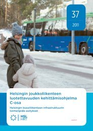Helsingin joukkoliikenteen luotettavuuden kehittämisohjelma ... - HSL
