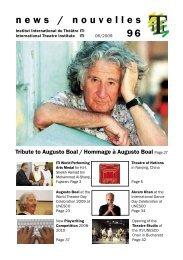 news / nouvelles 96 - International Theatre Institute