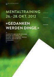 mentaltraining 26. – 28.okt. 2012 « gedanken werden ... - Safranblau