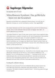 Münchhausen-Syndrom: Das gefährliche Spiel mit der Krankheit