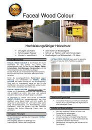 Faceal Wood Colour - PSS Interservice GmbH