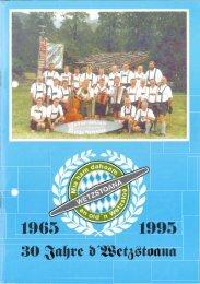 Festschrift 30 Jahre Wetzstoana