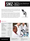 SMZ161 Zoom Magnification Stereomicroscope - Page 2