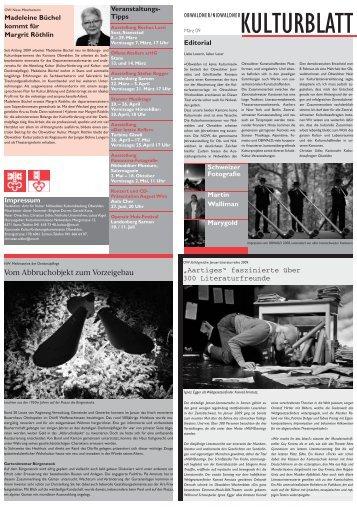 """Aartiges"" faszinierte über 300 Literaturfreunde en - Kulturfenster"
